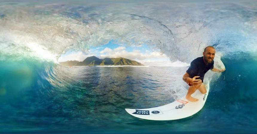 Surfez en réalité virtuelle à Teahupoo avec CJ Hobgood